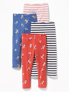 Patterned Leggings 4-Pack for Toddler Girls