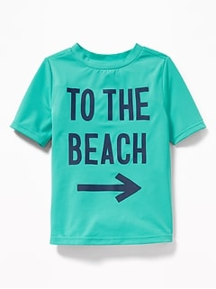 """To the Beach"" Graphic Rashguard for Toddler Boys"