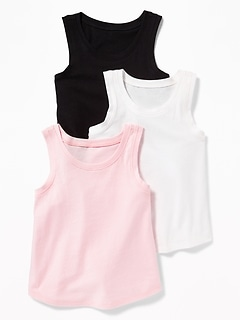 3-Pack Long & Lean Tank Set for Toddler Girls