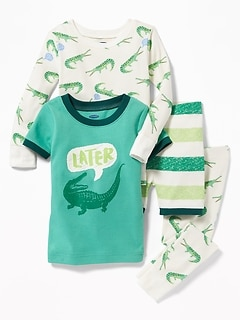 "4-Piece ""Later Alligator"" Sleep Set for Toddler & Baby"