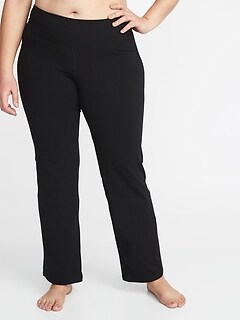 High-Rise Plus-Size Boot-Cut Yoga Pants
