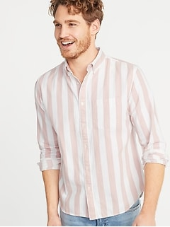 Slim-Fit Striped Twill Everyday Shirt for Men