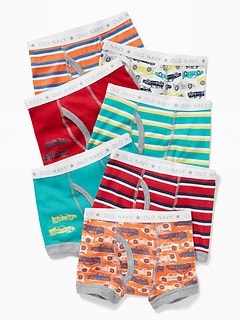 Cars-Print Boxer Briefs 7-Pack For Toddler Boys