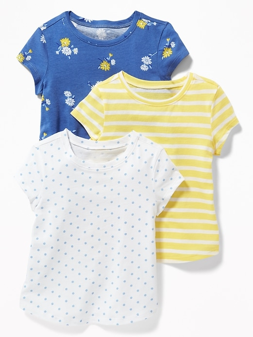 3 Pack Long & Lean Tees For Toddler Girls by Old Navy