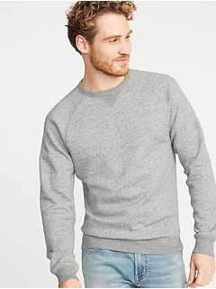 Classic Crew-Neck Raglan-Sleeve Sweatshirt for Men
