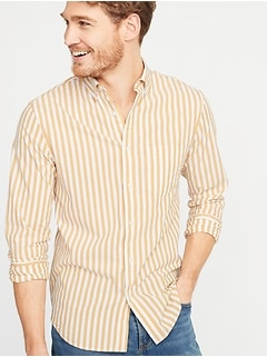Slim-Fit Built-In Flex Striped Everyday Shirt for Men