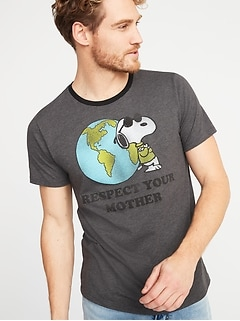 "Peanuts&#174 Snoopy ""Respect Your Mother"" Earth Day Tee for Men"