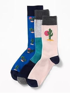 Printed Socks 3-Pack for Men