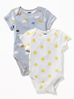 Printed Bodysuit 2-Pack for Baby