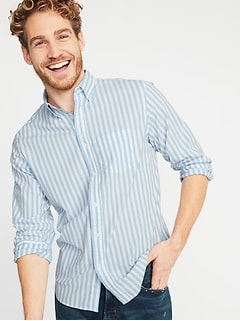 Slim-Fit Built-In Flex Everyday Striped Shirt for Men