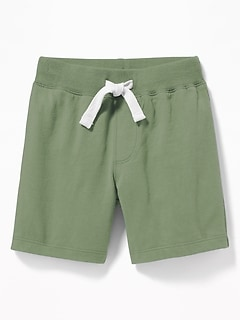 Functional Drawstring Jersey Shorts for Toddler Boys