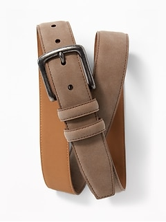 Faux-Suede Belt for Men
