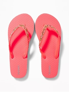 Rhinestone Flip-Flops for Girls