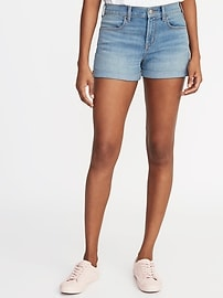 "Mid-Rise 3"" Inseam Cuffed Denim Women's Shorts"