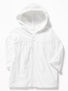 Loop-Terry Swim Cover-Up Zip Hoodie for Baby