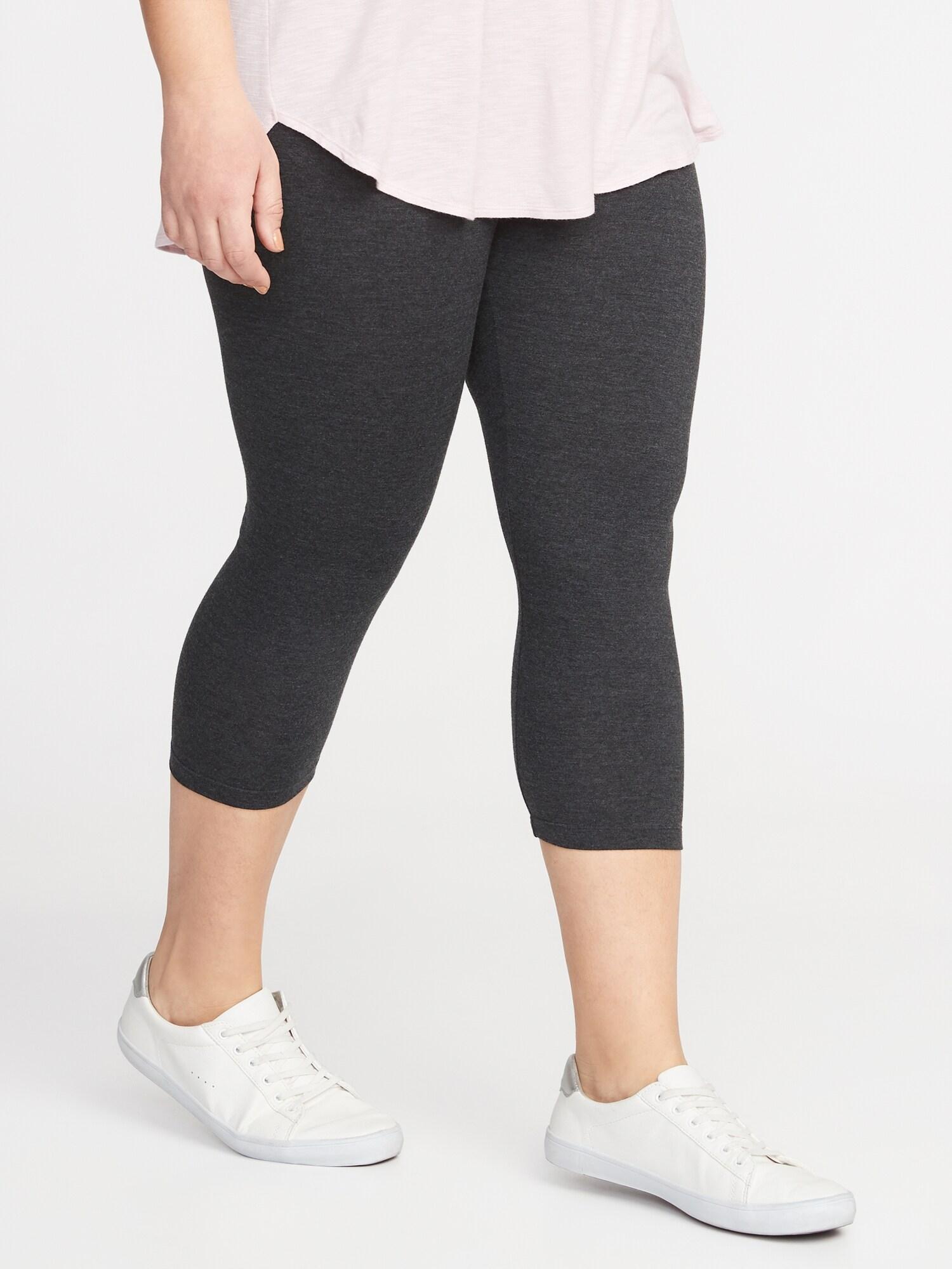 6e1fb7395e7 Cropped Jersey Plus-Size Leggings