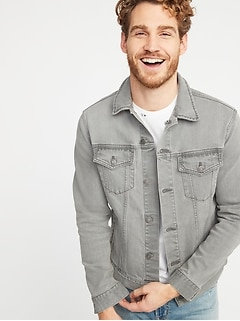 Gray Built-In Flex Denim Jacket for Men
