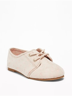 Faux-Suede Oxfords For Toddler