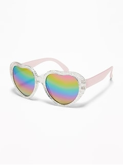 Glitter Heart-Shaped Sunglasses for Toddler & Baby