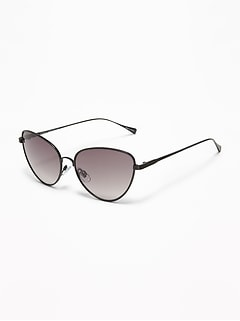 Wire-Frame Cat's Eye Sunglasses for Women