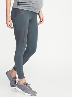 Maternity High-Rise Moto Compression 7/8-Length Street Leggings