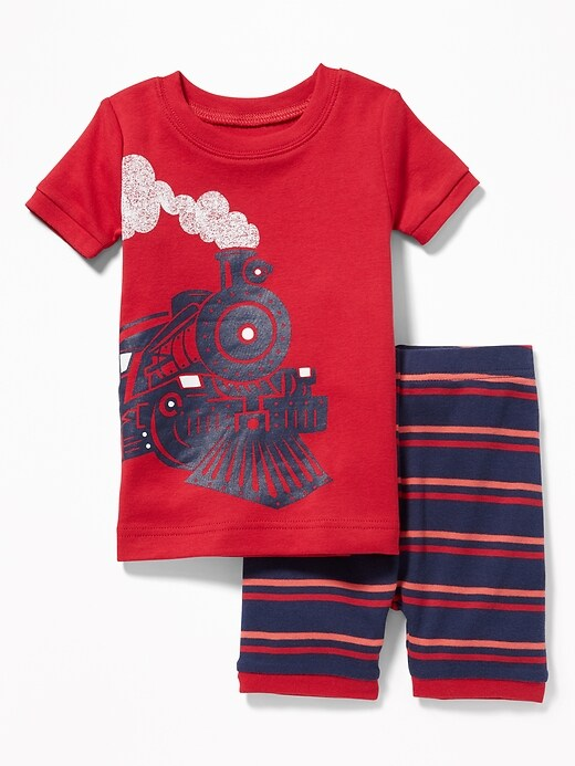 Train-Graphic Sleep Set For Toddler & Baby