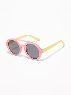Color-Blocked Round Sunglasses for Toddler & Baby