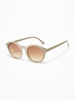 Round Color-Frame Sunglasses for Women
