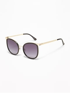 Mixed-Material Sunglasses for Women