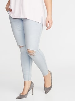 High-Rise Distressed Rockstar Plus-Size Pull-On Jeggings