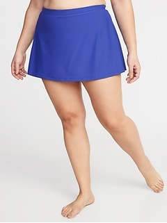Plus-Size Secret-Slim Swim Skirt