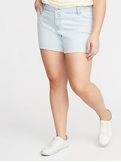 Boyfriend Plus-Size Denim Shorts - 5-inch inseam