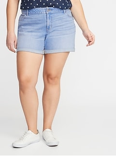 Plus-Size Boyfriend Denim Shorts - 5-inch inseam
