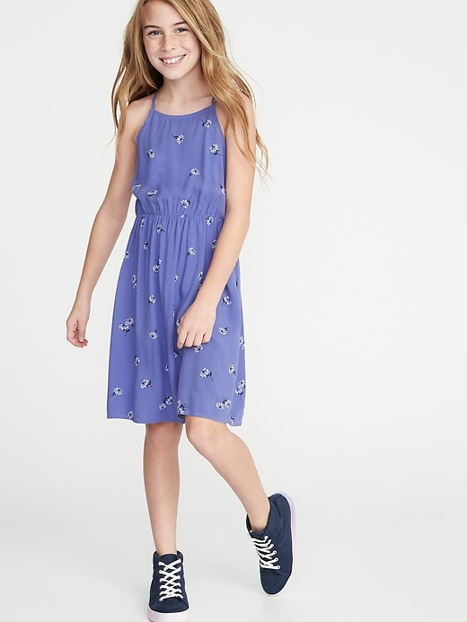 Printed Fit & Flare Cami Dress for Girls