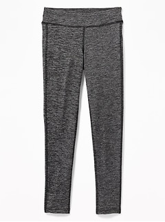 Go-Dry Micro-Stripe Leggings for Girls