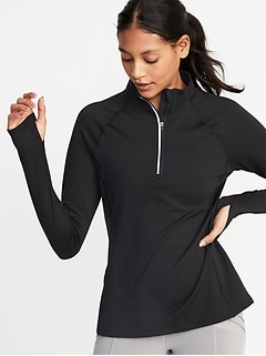 1/4-Zip Lightweight Fleece Pullover for Women