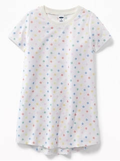 Multi-Color Polka-Dot Sleep Dress For Toddler Girls & Baby