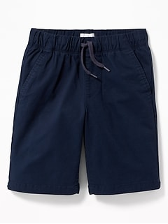 Straight Built-In Flex Twill Jogger Shorts for Boys