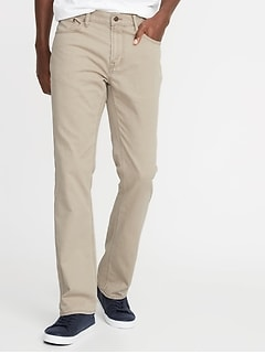 Twill Five-Pocket Boot-Cut Pants for Men