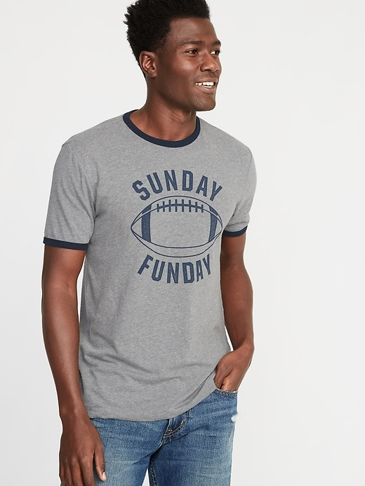 Graphic Soft-Washed Ringer Tee for Men