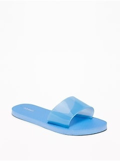 Jelly Slide Flip-Flops for Women