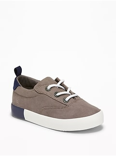 Faux-Suede Lace-Up Sneakers For Toddler Boys