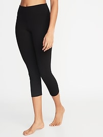 High-Rise Yoga Crops for Women (Black or Carbon)