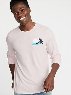 Graphic Soft-Washed Long-Sleeve Tee for Men