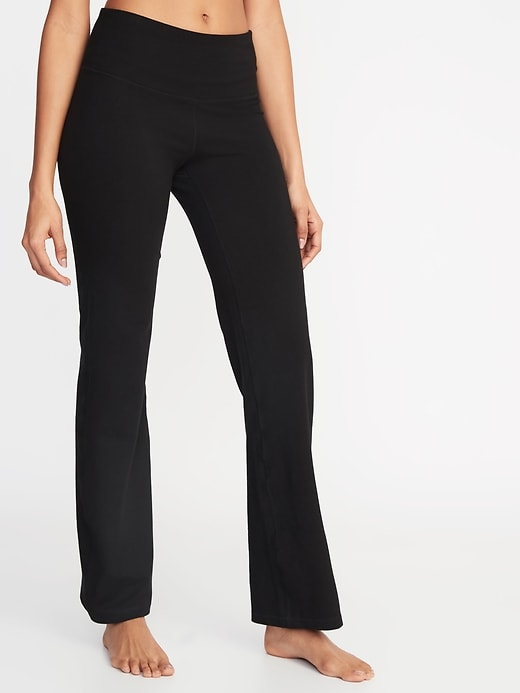 High-Rise Slim Boot-Cut Yoga Pants for Women (Black or Carbon)