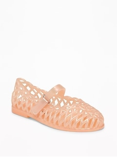 5770d036d0c Basket-Weave Jelly Ballet Flats for Toddler Girls