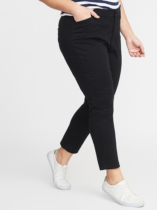 Mid-Rise Plus-Size Pixie Chinos