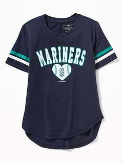 MLB® Team-Graphic Sleeve-Stripe Tee for Girls