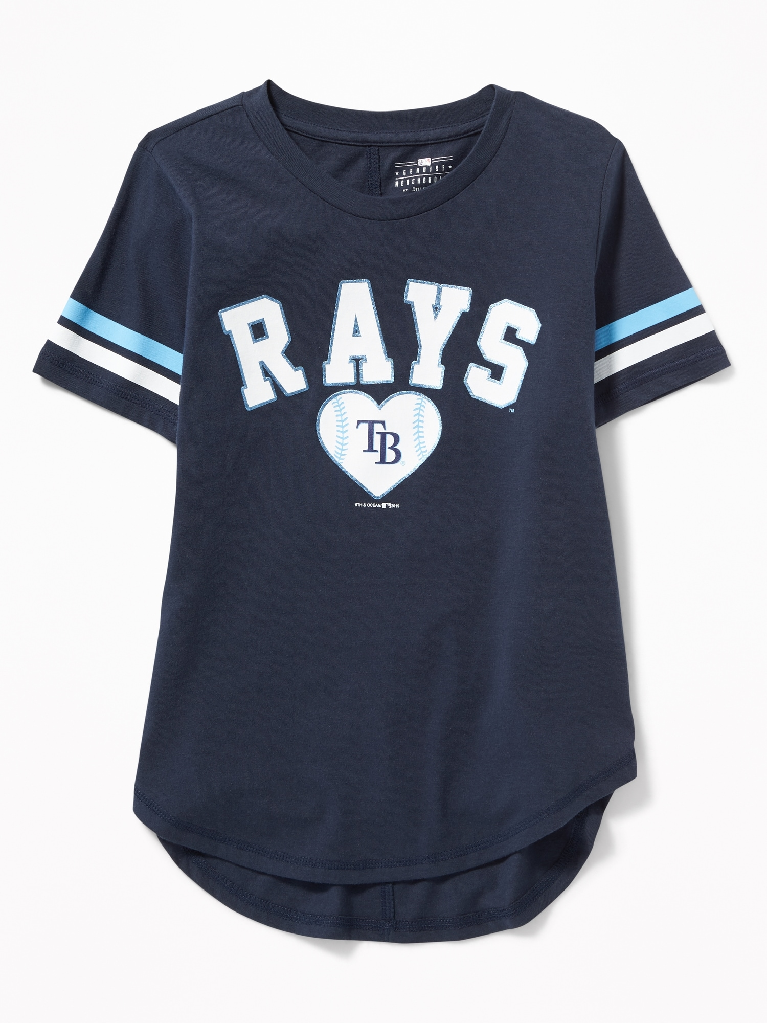 brand new 20c80 a79ce MLB® Team-Graphic Sleeve-Stripe Tee for Girls   Old Navy
