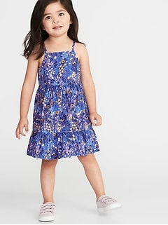 Tiered Floral-Print Cami Dress for Toddler Girls